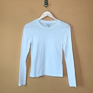 & Other Stories Plain White Long Sleeve Crew